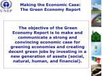 making the economic case the green economy report