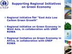 supporting regional initiatives on green economy