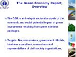 the green economy report overview