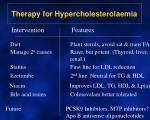 therapy for hypercholesterolaemia