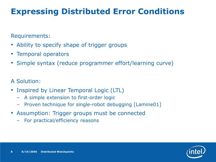 Expressing Distributed Error Conditions