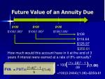 future value of an annuity due2