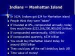 indians manhattan island