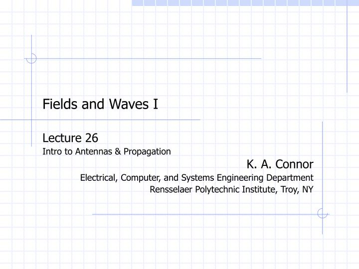 fields and waves i