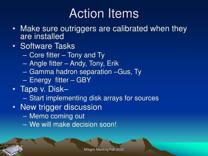 Action items1
