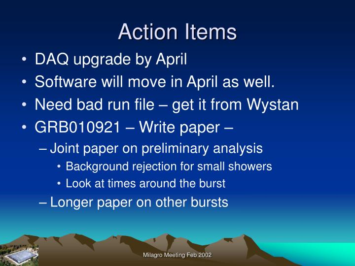 Action items2