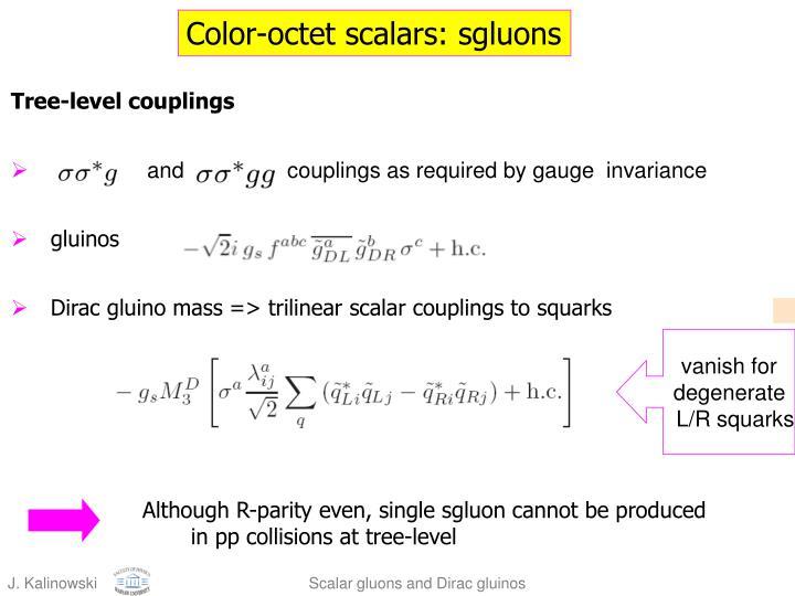 Color-octet scalars: sgluons