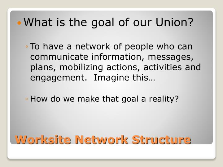 What is the goal of our Union?
