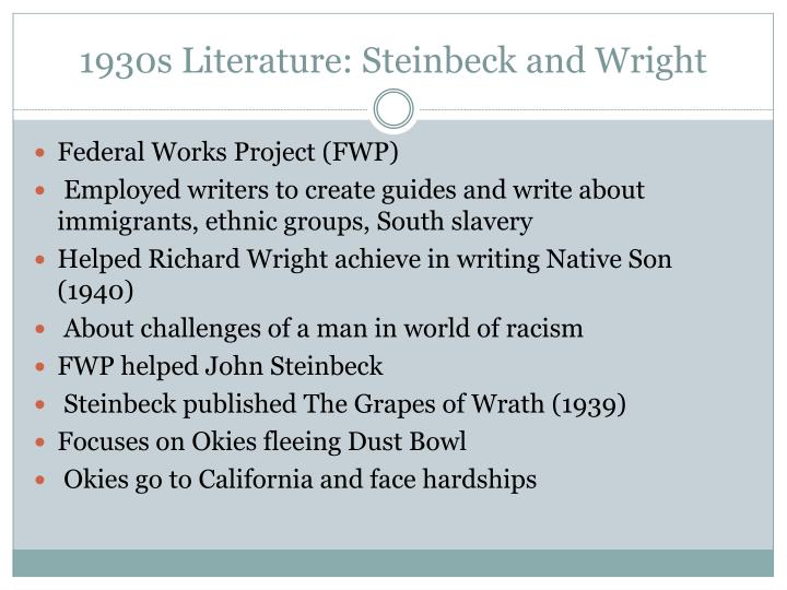 1930s Literature: Steinbeck and Wright