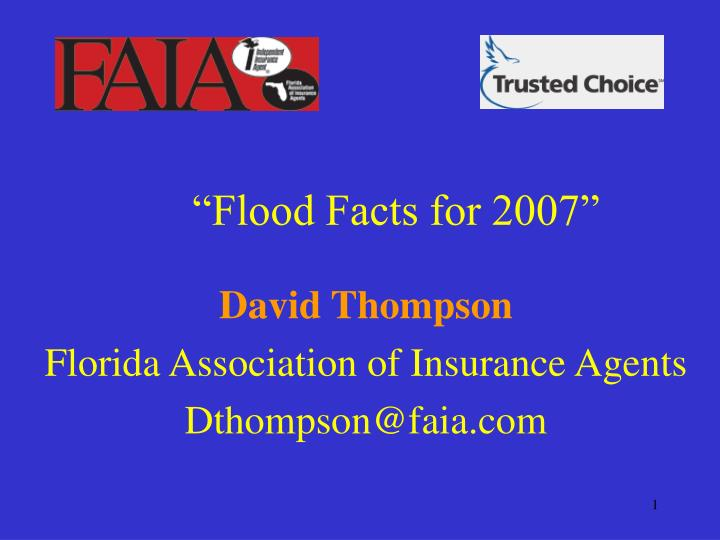 flood facts for 2007 n.