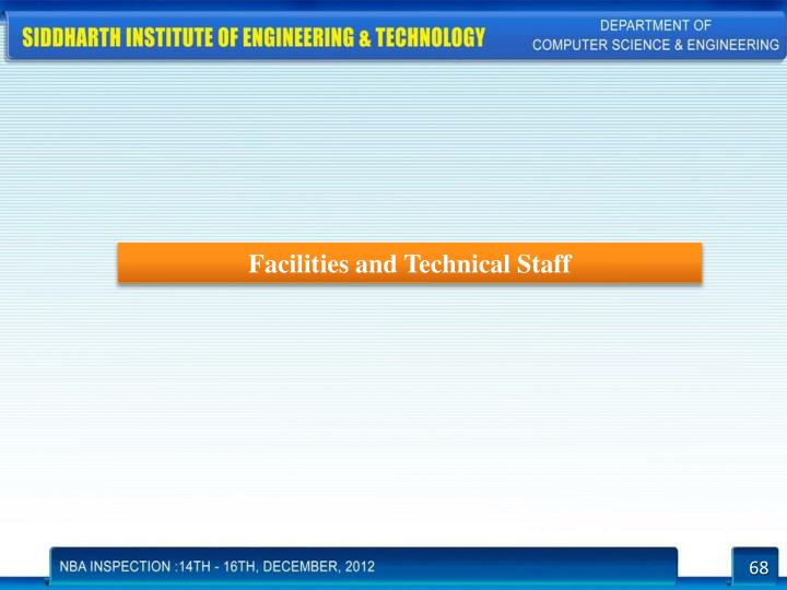 Facilities and Technical Staff