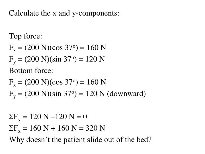 Calculate the x and y-components:
