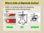what is order of magnitude scaling3