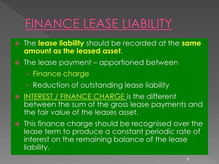 FINANCE LEASE LIABILITY