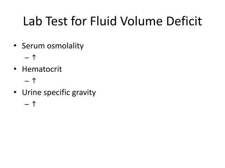 Lab Test for Fluid Volume Deficit