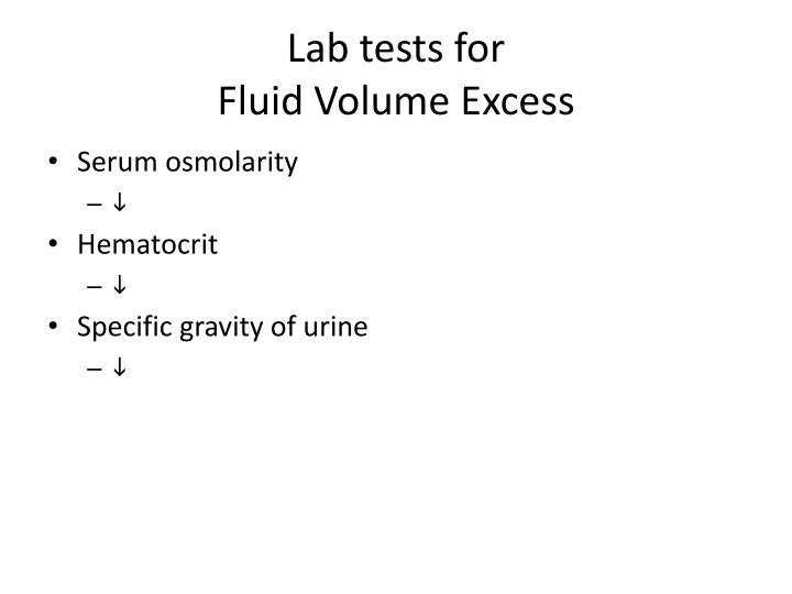Lab tests for