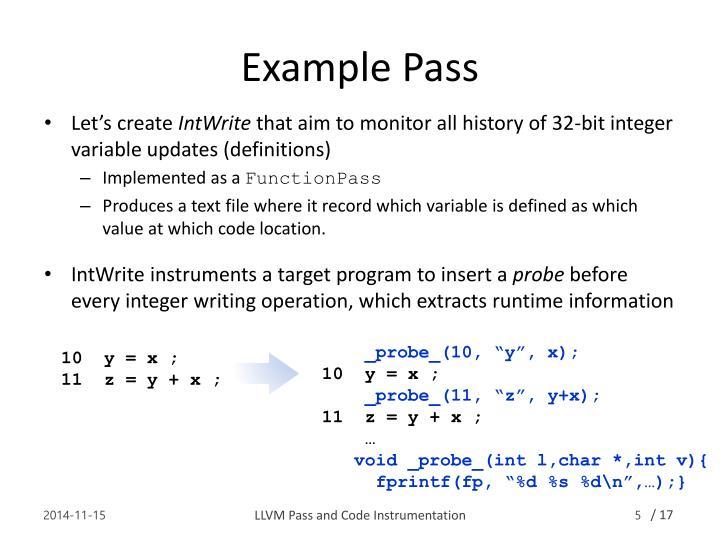 Example Pass