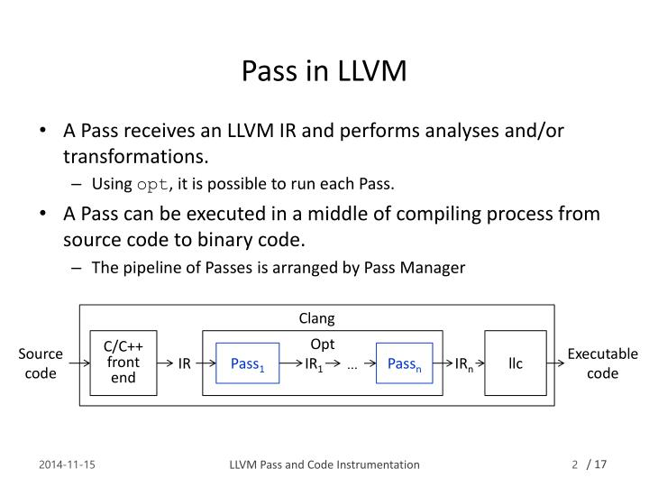Pass in llvm
