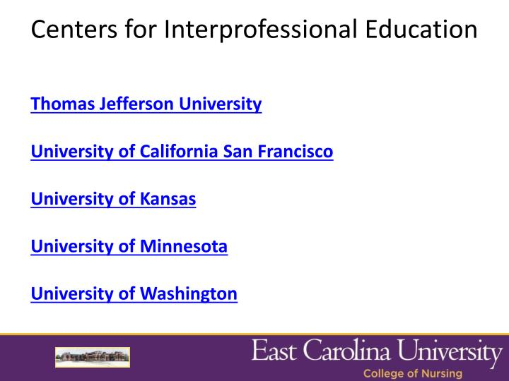 Centers for Interprofessional Education