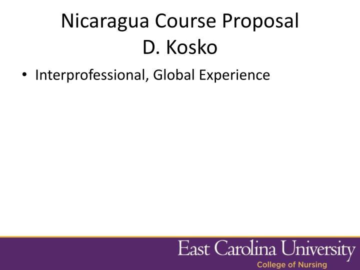 Nicaragua Course Proposal