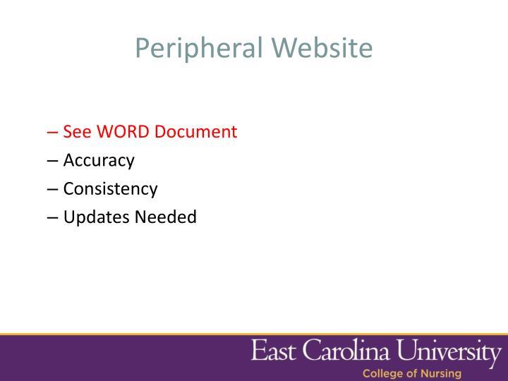 Peripheral Website