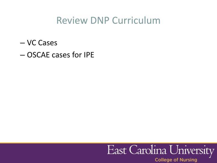 Review DNP Curriculum