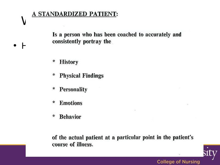 What are Standardized Patients?