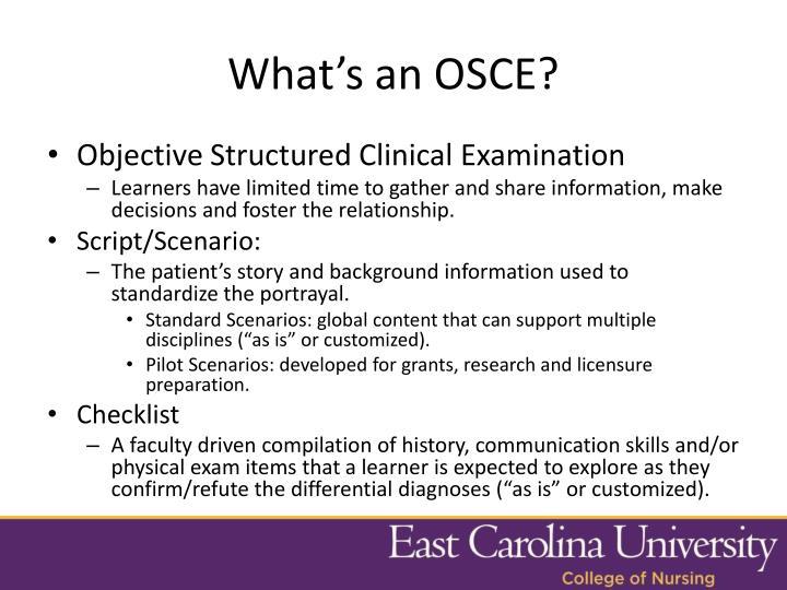 What's an OSCE?