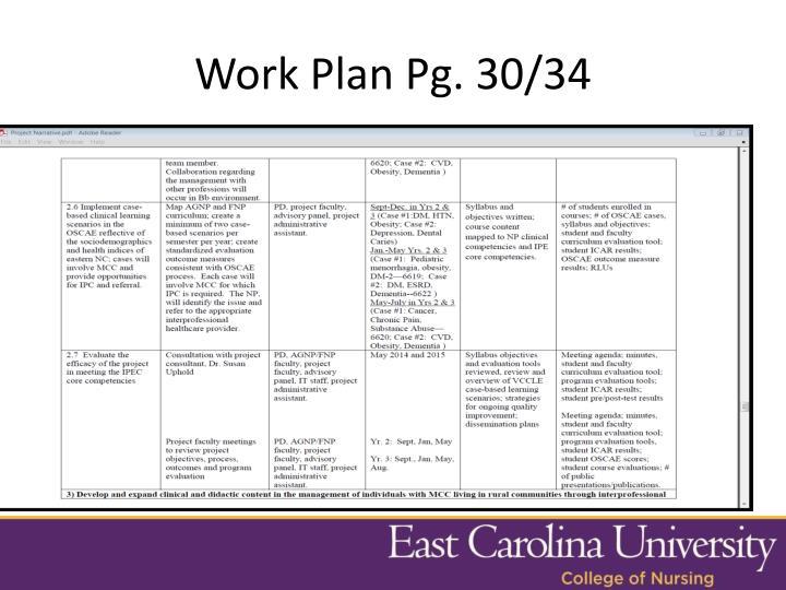Work Plan Pg. 30/34