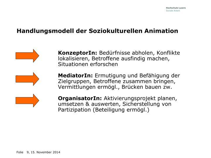 Handlungsmodell der Soziokulturellen Animation