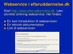 webservice i efteruddannelse dk3