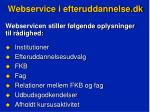 webservice i efteruddannelse dk4