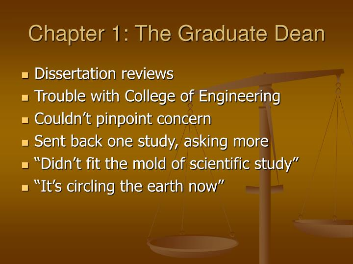 Chapter 1 the graduate dean