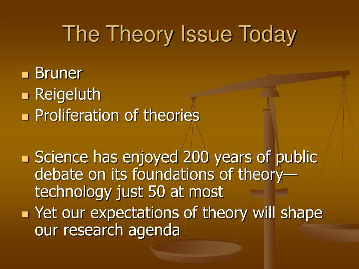 The Theory Issue Today