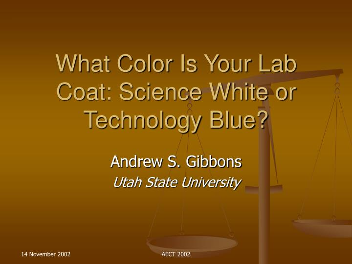What color is your lab coat science white or technology blue