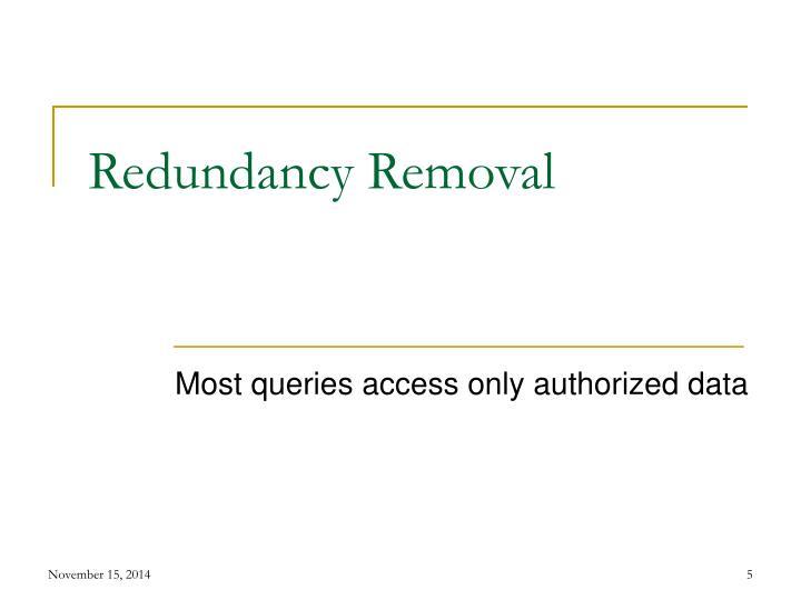 Redundancy Removal