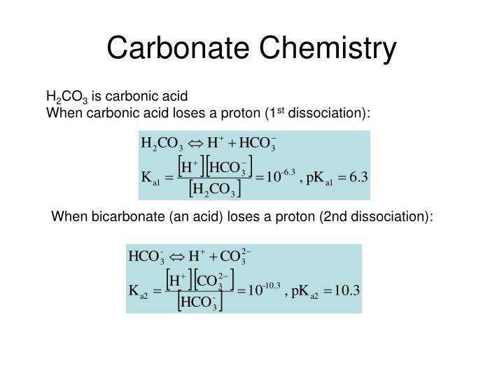 Carbonate Chemistry