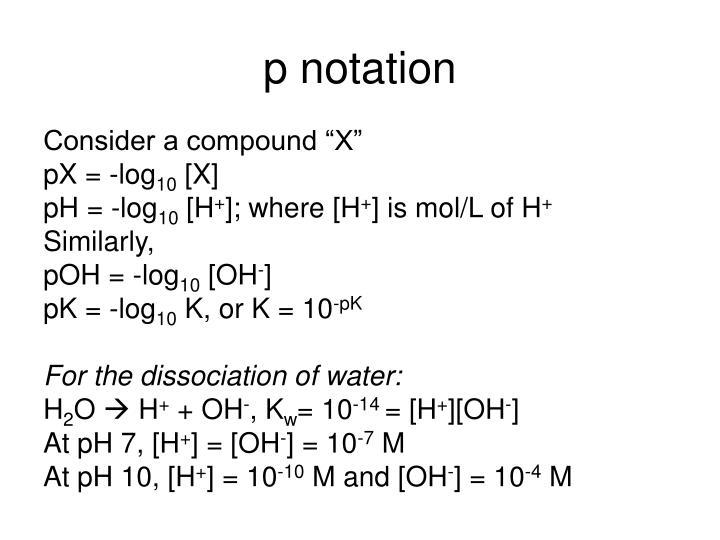 p notation