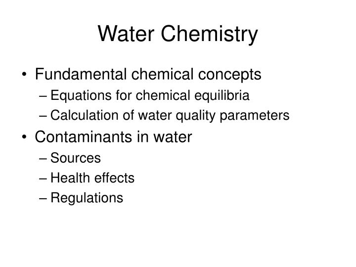Water chemistry1