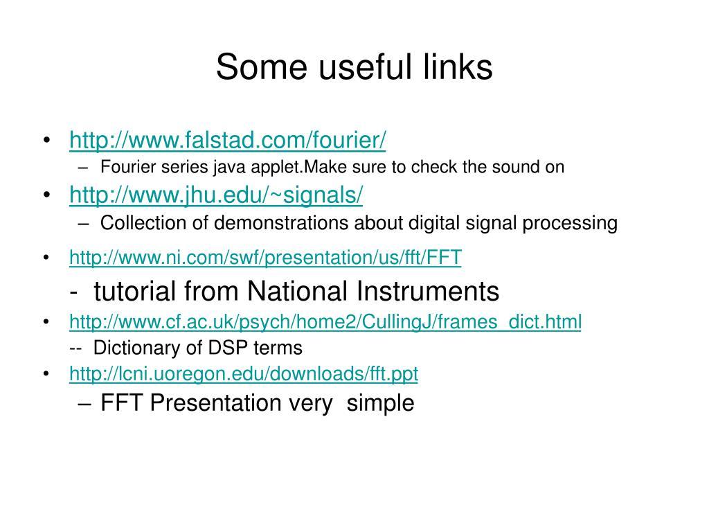 PPT - The Discrete Fourier Transform PowerPoint Presentation - ID