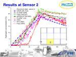 results at sensor 2