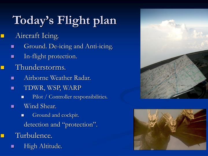 Today s flight plan
