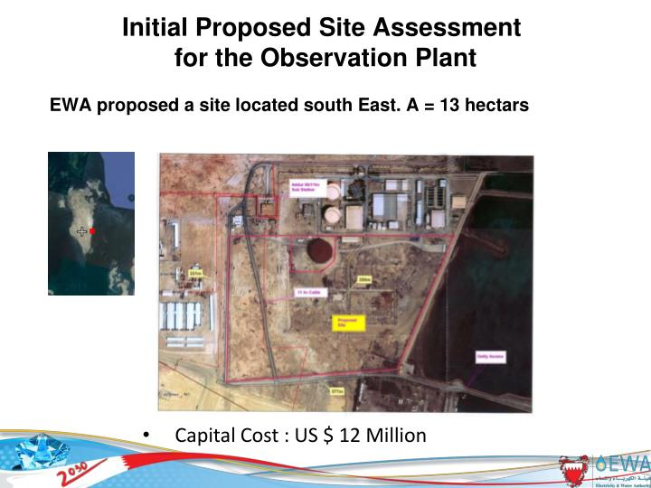 Initial Proposed Site Assessment