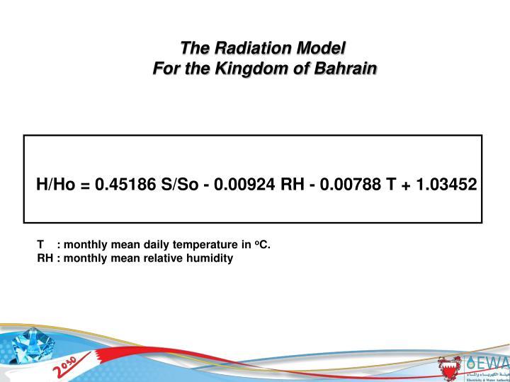 The Radiation Model