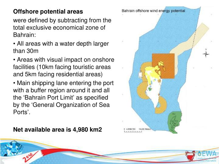 Offshore potential areas