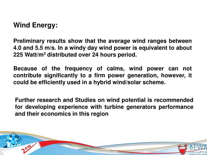 Wind Energy: