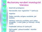 mechanizmy naru en imunologick tolerance