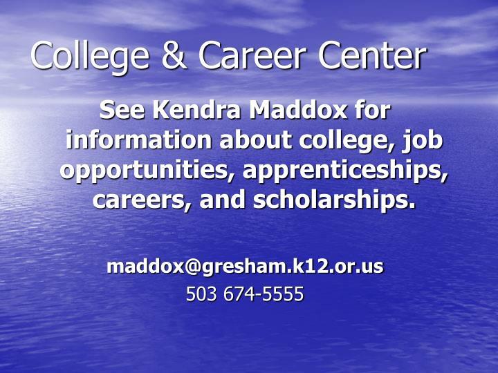 College & Career Center