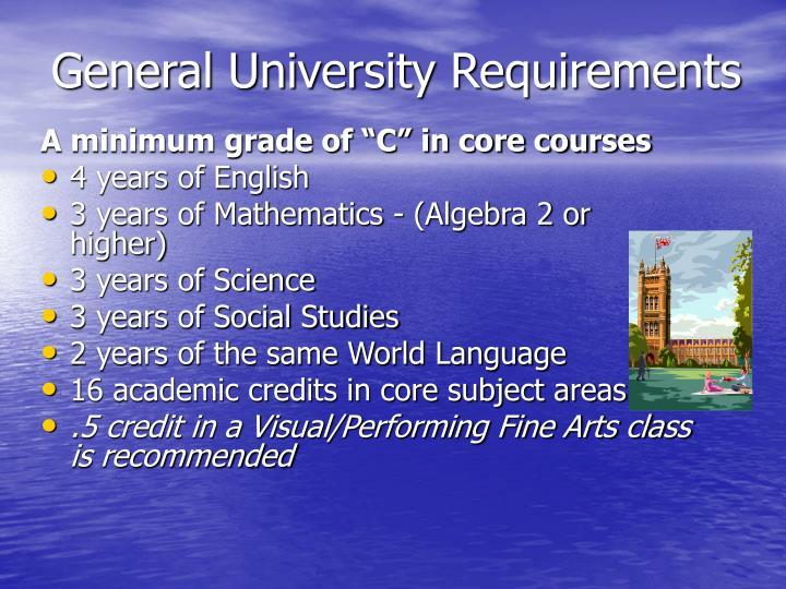 General University Requirements