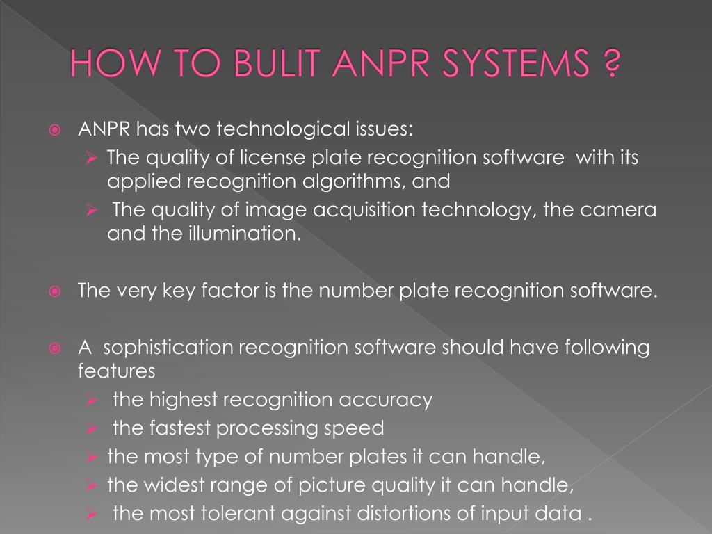 PPT - AUTOMATIC NUMBER PLATE RECOGNITION SYSTEM PowerPoint